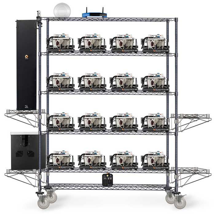 16-cage-Promethion-Core-Rack Sable systems