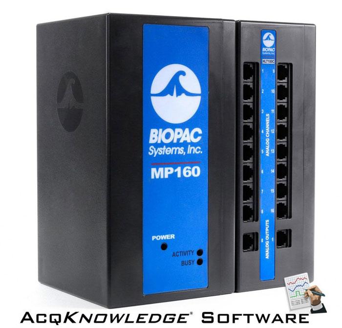 BIOPAC MP160 data acquisition